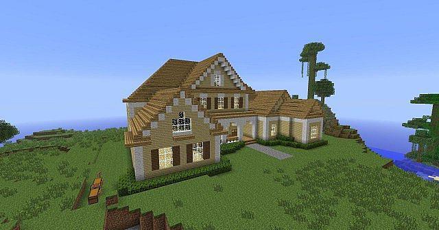 Lastra Di Legno Minecraft : Come costruire una bella casa in legno su minecraft case da