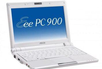 Netbook Asus Eee PC 900: dane techniczne, opinie