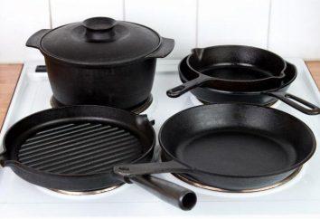 Les plats de cuisson en fonte: recommandations sur la sélection et de soins