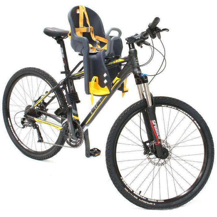 Sillas para niños en el cuadro de la bicicleta y el tronco: cómo ...