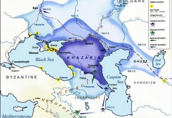 A capital dos Khazars, construída na foz do Volga-Itil. A capital do Khaganate Khazar