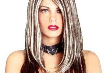 Highlights auf dem gefärbten Haar: schön, ursprünglich, modisch