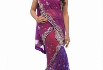vestidos indianos. A urgência do estilo oriental do vestuário: vestidos de noite indiana