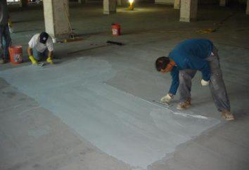 Impermeabilización del suelo delante de la regla en el apartamento con sus manos. materiales