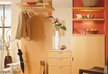 mobiliário compacto e funcional em um pequeno corredor