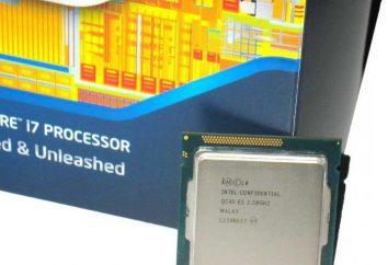 Procesor Intel Core i7-3770: specyfikacje i recenzje