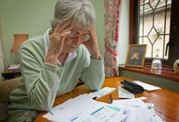 Tipi di pensioni per le pensioni statali. pensione minima