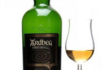 """whisky escocés populares """"Ardbeg"""": descripción, composición, comentarios, precio"""