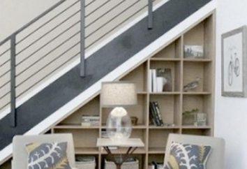 Szafka pod schodami jest praktyczną opcją na umieszczenie domku
