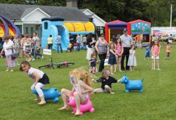 entretenimento desportivo no grupo mais velho do jardim de infância