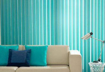 Blinds: Foto, Farbe. Wie vertikale Jalousien Stoff waschen?