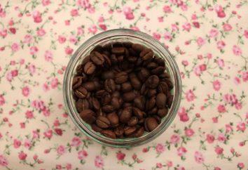 corazón fragante de los granos de café