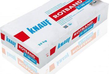 """pasta """"Rotband"""". Propiedades, las aplicaciones, los tipos"""
