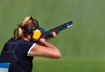 Fotografar esportes. Alvo para o tiro. tiro com rifle de desporto