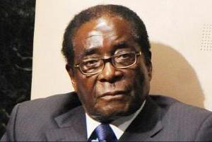 Il presidente dello Zimbabwe Mugabe Robert: foto di famiglia