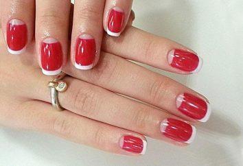 manicure rosso con cristalli: la migliore combinazione di idee interessanti