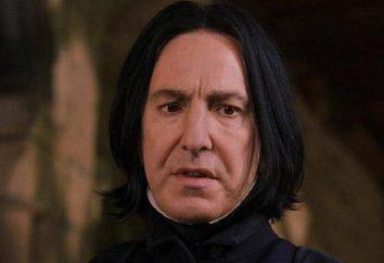 Actor Severus Snape – el personaje de JK Rowling en la serie Harry Potter de libros J .. Descripción e interesantes hechos