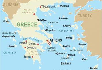 Les pays avec lesquels la Grèce borders: quel genre d'État?
