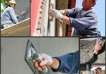 façade plâtrage: la technologie des matériaux. plâtre de façade pour les travaux extérieurs