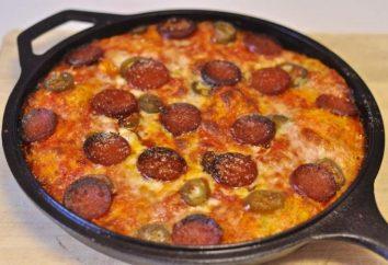 """pizza """"preguiçoso"""" em uma panela. receitas culinárias"""