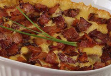 Batatas com bacon, cozido no forno – cozinhar em casa rápida e saborosa!