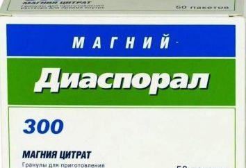 """Preparazione """"Magnesium-Diasporal"""": istruzioni per l'uso, recensioni, descrizione"""