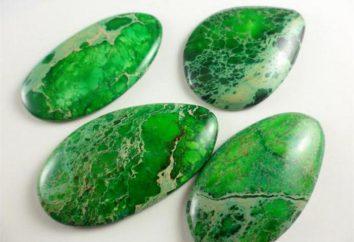 piedras preciosas y semipreciosas verdes: foto y el nombre