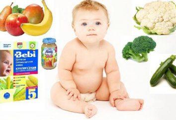 O que você pode dar ao seu bebé de 5 meses? Vegetais e frutas purê para crianças