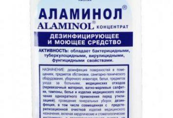 """detergente bactericida """"Alaminol"""": instrucciones de uso"""
