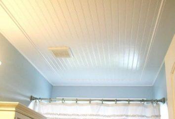 Comment installer le plafond rack pour la salle de bain?