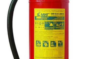 Feuerlöscher OP-5: Beschreibung und Eigenschaften