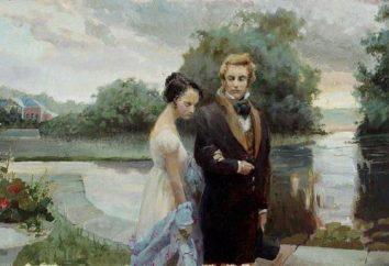 """Kompozycja na temat AS Pushkin na temat """"Porównanie liter Onegin i Tatiana"""""""