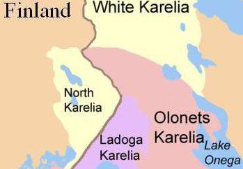 coat Karelia da brasão e da bandeira: Descrição e fotos