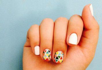 Geometria gwoździ. geometryczne manicure