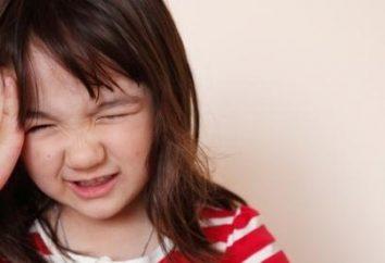 Kopfschmerzen bei einem Kind