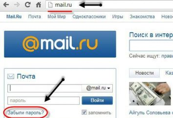 Wie mail Mail.ru erholen? E-Mail Mail.ru: wiederherstellen, anpassen