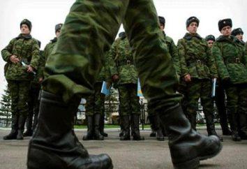 Wybór pozycja do służby wojskowej na podstawie umowy. usługa zamówienia: Podstawowe wymagania