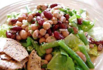 Salat mit Bohnen in Dosen und Cracker: ein Rezept mit Fotos. Salat mit roten und weißen Bohnen