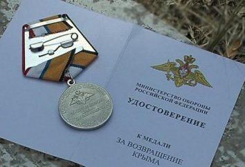 """Medal """"Za wyzwolenie Krymu i Sewastopola"""""""