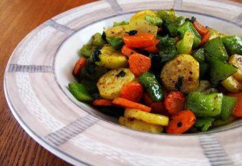 Saute z warzywami z bakłażanami i cukinią. Saute warzyw w piecu