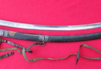 sciabola cosacca: descrizione e foto. armi da taglio d'epoca