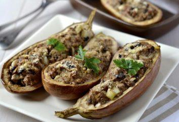 Aubergines farcies avec de la viande, cuite au four: recette