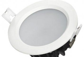 Stopień ochrony IP65. lampa LED w każdym pomieszczeniu