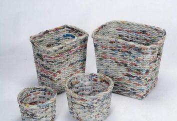 Kosz z rurek gazetowych, czyli jak stworzyć stylowy mebel?