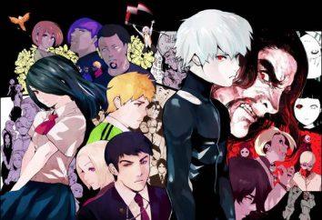 """Tokyo Ghoul"": personagens. Anime de Tóquio Ghoul"