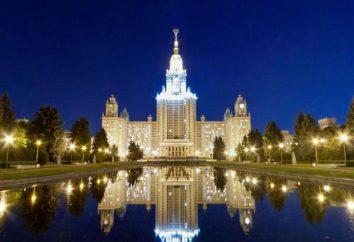 Większość dobrych instytucji w Moskwie: Przegląd, ocena, wydziały, specjalności