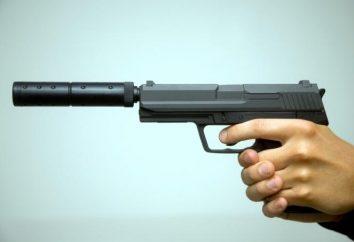 Pistolet avec un silencieux – armes modernes
