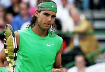 Le joueur de tennis Rafael Nadal: biographie, réalisations