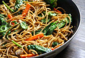 Jak smażyć makaron na patelni bez gotowania: recepty