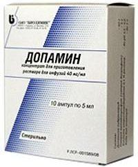"""Droga """"Dopamina"""": instruções de uso"""